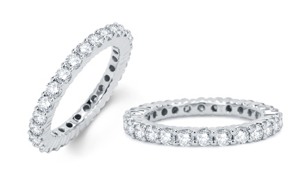 1.50 CTTW Round Diamond Eternity Ring in 14K White Gold