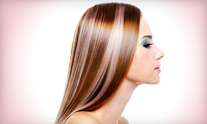 Hilights Salon - Lyndhurst: Haircut, Wash, and Blowout with Partial or Full Highlights at Hilights Salon (Up to 68% Off)