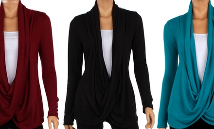 Women's Full Hacci Crisscross Cardigan