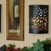 Etched Sconce with Flameless Candle