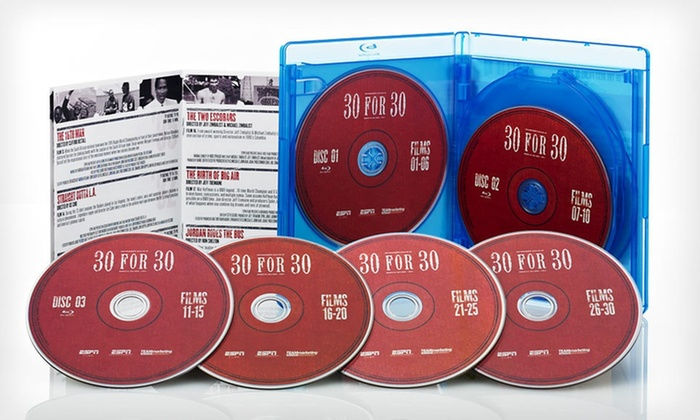 ESPN 30 for 30 Collector's Blu-ray Set: $39.99 for the ESPN 30 for 30 Collector's Set on Blu-ray ($99.95 List Price). Free Shipping and Returns.