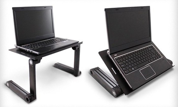 Mesa de ordenador port til groupon goods for Mesa para ordenador portatil