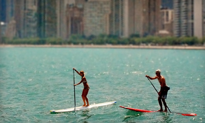 Chicago SUP - North Avenue Beach: Two-Hour Standup-Paddleboard Rental for One or Two from Chicago SUP (50% Off)