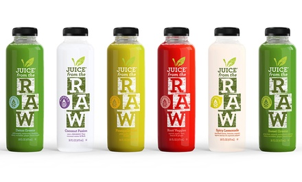 Three-Day Cold-Pressed Juice Cleanse for One or Two People from Juice from the Raw (Up to 54% Off)