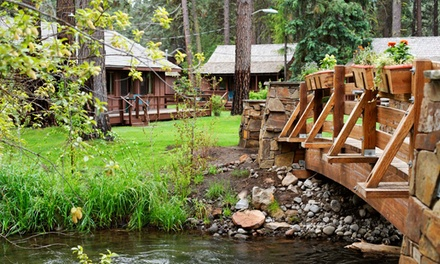 2-Night Cabin Stay for Two or Four at Lake Creek Lodge in Camp Sherman, OR. Combine Up to 10 Nights.
