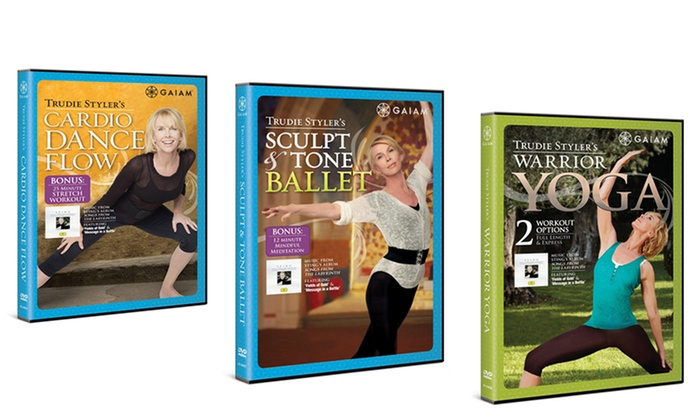 Trudie Styler 3-Pack of Workout DVDs: Trudie Styler 3-Pack of Workout DVDs with Cardio Dance, Sculpt and Toning Ballet, and Warrior Yoga. Free Returns.