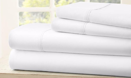 Labor Day Sale 1800 Thread Count Egyptian Cotton Sheet Set (4-Piece) at Royal Bliss Linens