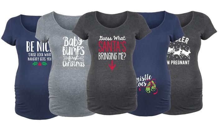 b4ac1ffb Women's Holiday Maternity T-Shirts | Groupon