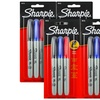 Four Three-Packs of Fine-Point Sharpie Permanent Markers
