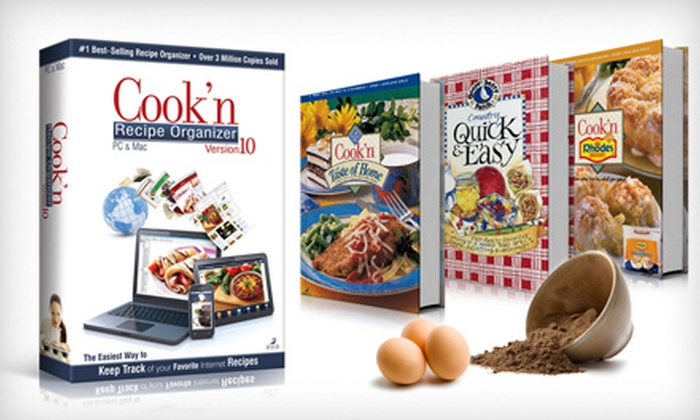 Cook'n Recipe Organizer: Recipe Digital Software Download with Option of $30 Worth of eCookbooks from Cook'n Recipe Organizer (Up to 75% Off)