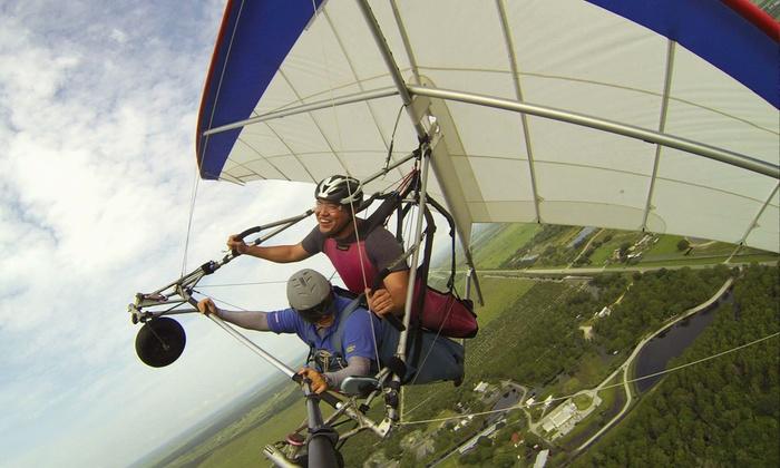 The Florida Ridge Sports Air Park - The Florida Ridge Sports Air Park: $76 for a Tandem Hang-Gliding Flight Package at The Florida Ridge Air Sports Park ($184 Value)