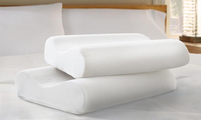 2 Purasleep Memory-Foam Contour Pillows: 2-Pack of Purasleep Memory-Foam Contour Pillows