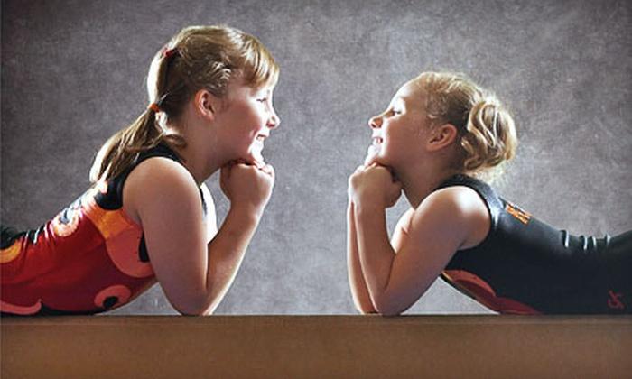 K2 Academy of Kids Sports - K2 Academy of Kids Sports: $30 for Five Weeks of Kids' Gymnastics, Cheerleading, or Tumbling Classes at K2 Academy of Kids Sports ($87.50 Value)