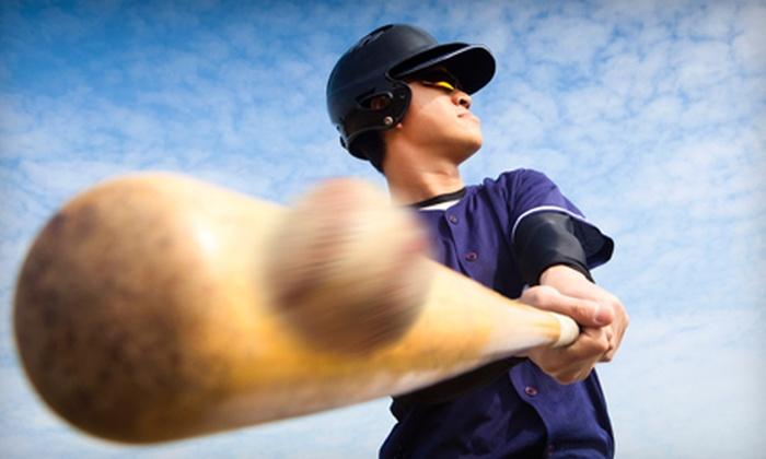 Baseball USA - Spring Shadows: Batting-Cage Tokens and use of Bat and Helmet at Baseball USA (Up to 53% Off). Two Options Available.