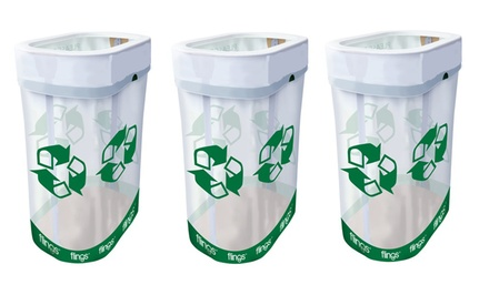 3-Pack of Pop-Up Recycle Bins. Free Returns.