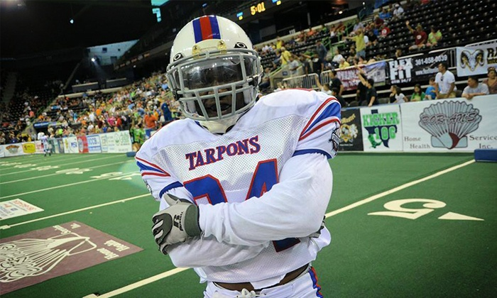 Florida Tarpons vs. Miami Inferno - Estero: Florida Tarpons Indoor Football Game for Two or Four with On-Field National Anthem Experience (Up to 51% Off)
