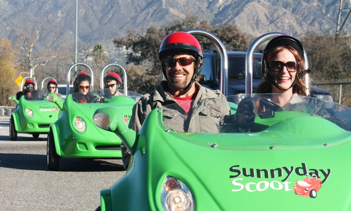 SunnyDay Scoot - Burbank: Red Carpet Scoot Tour for Two or Four or Private Tour for Six at SunnyDay Scoot (Up to 51% Off)