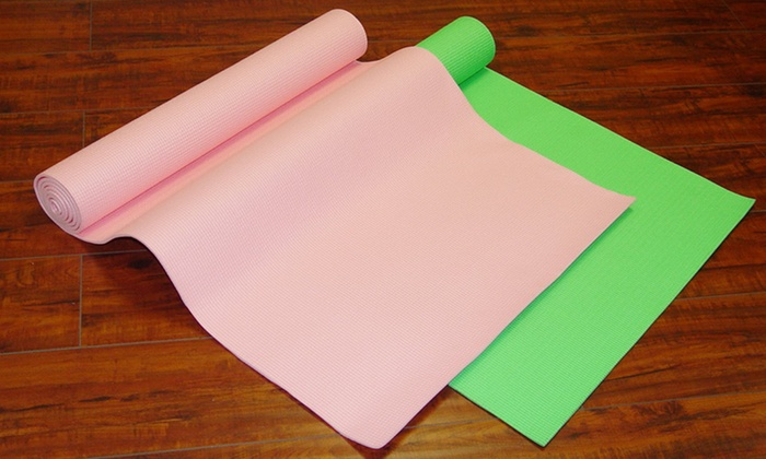 Extra-Long Yoga Mat: Extra-Long Yoga Mat in Green or Pink. Free Returns.