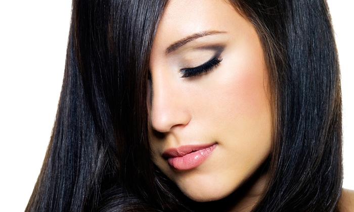 Fine Lines Hair Salon - Newton Upper Falls: Cut and Condition with Smoothing Treatment, Partial Highlights, or Ombre Color at Fine Lines Hair Salon (Up to 58% Off)
