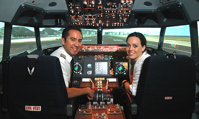 Flightdeck Flight Simulation Center - Anaheim: 30-, 60-, or 90-Minute Boeing 737 Simulator Experience at Flightdeck Flight Simulation Center (Up to 36% Off)