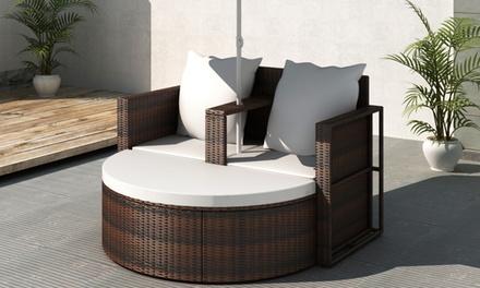 div n de jard n con sombrilla groupon. Black Bedroom Furniture Sets. Home Design Ideas
