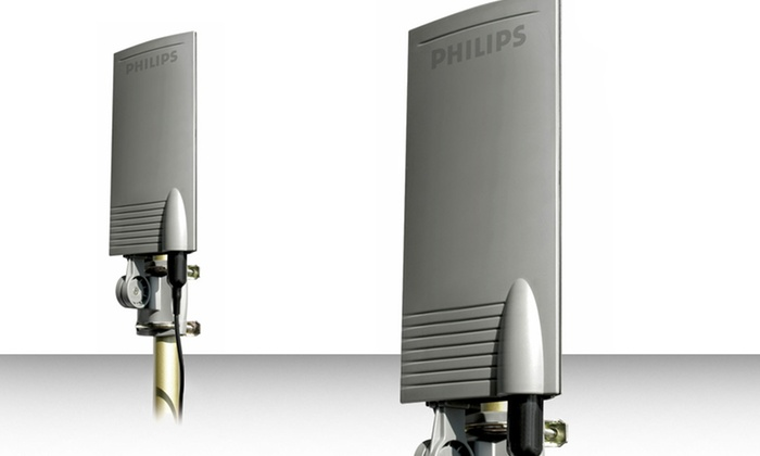 Philips Indoor/Outdoor Amplified HD Flat-Panel Antenna: Philips Indoor/Outdoor Amplified HD Flat-Panel Antenna. Free Returns.
