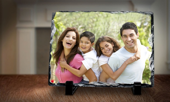 """Picture it on Canvas **NAT**: 6""""x8"""", 8""""x8"""", or 12""""x12"""" Custom Print on Slate from Picture It On Canvas (Up to 71% Off)"""