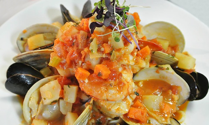 Latitude 121 - Stony Brook: Steak and Seafood Dinner at Latitude 121 (Up to 50% Off). Two Options Available.