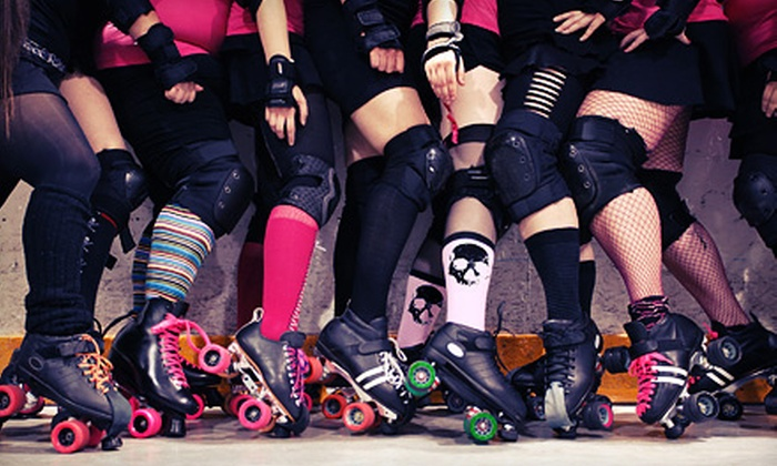 Skates Roller Skating Entertainment Center - Sand Springs Village Square: $10 for Roller-Derby Bout for Two on May 26 or June 16 at Skates Roller Skating Entertainment Center (Up to $20 Value)