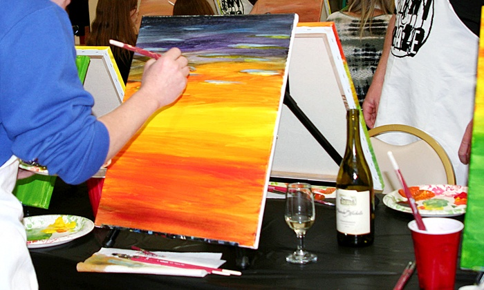 Paint Craze - Multiple Locations: Two-Hour Canvas Painting Class for One or Two People from Paint Craze (Up to 34% Off)