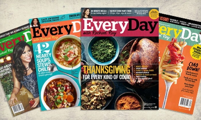 """Everyday With Rachael Ray"" Magazine: $8 for a One-Year Subscription to ""Every Day with Rachael Ray"" Magazine ($15 Value)"