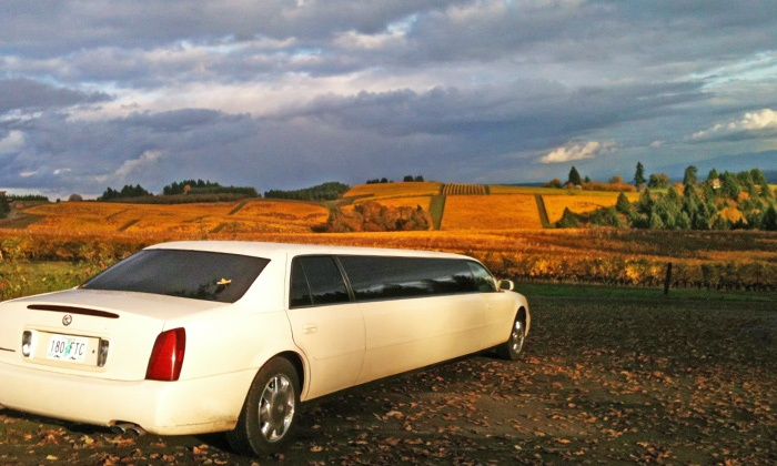 G-Limos - Tigard Fred Meyer: Limousine Wine Tour Admission or Private Town Car or Sedan Wine Tour for Two from G-Limos (Up to62% Off)