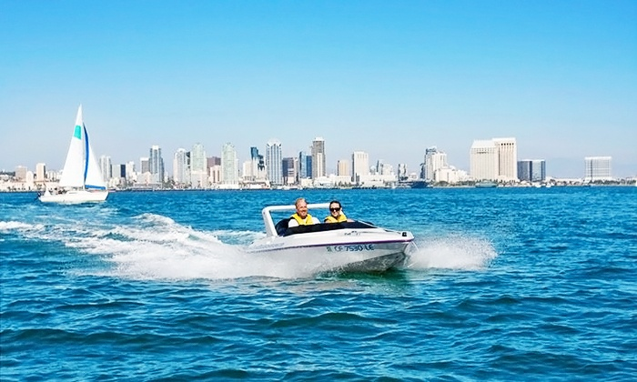 San Diego Speed Boat Adventures - Downtown: $86 for a Harbor Speedboat Tour for Two from Speed Boat Adventures ($129.80 Value)
