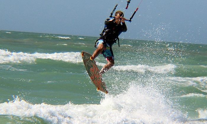 Highroller Kiteboarding - Denham Acres: One-Hour On-Land Intro to Kite Boarding Lessons for One or Two at Highroller Kiteboarding (Up to 56% Off)