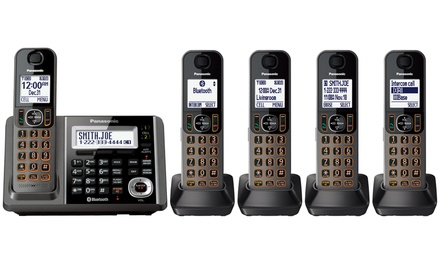 Panasonic Link-to-Cell Unit with Answering Machine and 5 Handsets (Refurbished)