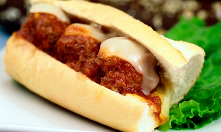 $22 for a Punch Card for Five 8-Inch Sub Sandwiches at Deli Italia Market($35.90 Value)