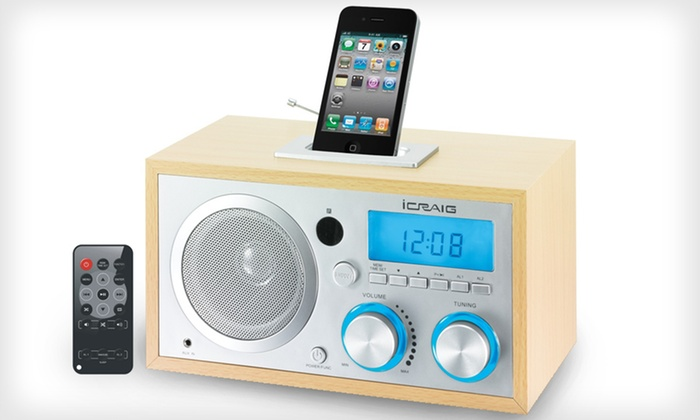 iCraig Retro Docking Clock : $39 for a Craig Electronics iCraig Retro Docking Clock ($59.99 List Price). Free Shipping and Free Returns.