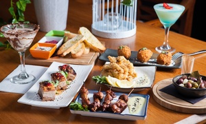 Ultra Lounge Bar & Cafe: $49 for Six Tapas Dishes with Wine, or $59 with Cocktails for Two People at Ultra Lounge Bar & Cafe (Up to $103 Value)
