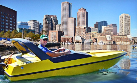 [90-Minute Mini-Speedboat Tour with Photo for One or Four from Boston Harbor Mini Speed Boats, Inc. (Up to 55% Off) Image]