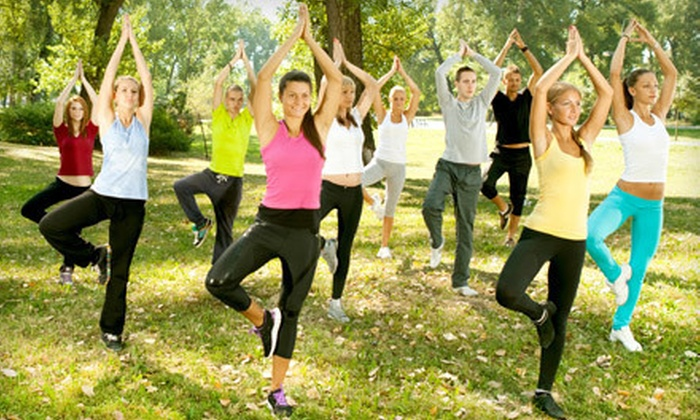 Hiking Yoga - Reverchon Park: Two Classes or Private Yoga Hike for Up to 15 People from Hiking Yoga (Up to 53% Off)