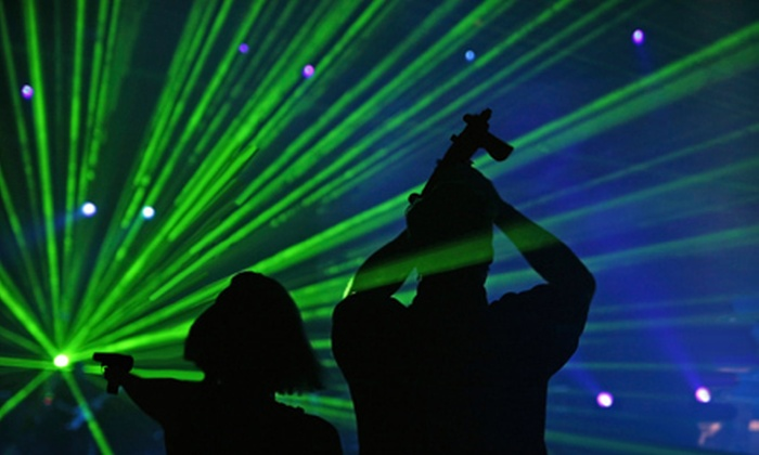 Lazer X - Arden - Arcade: $22 for Laser Tag with Drinks and Arcade Credit for Up to Four at Lazer X (Up to $64.60 Value)