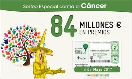 30 décimos para el Sorteo contra el cáncer con la peña La Bruixa d'Or por 8,40 € con Serviapuestas