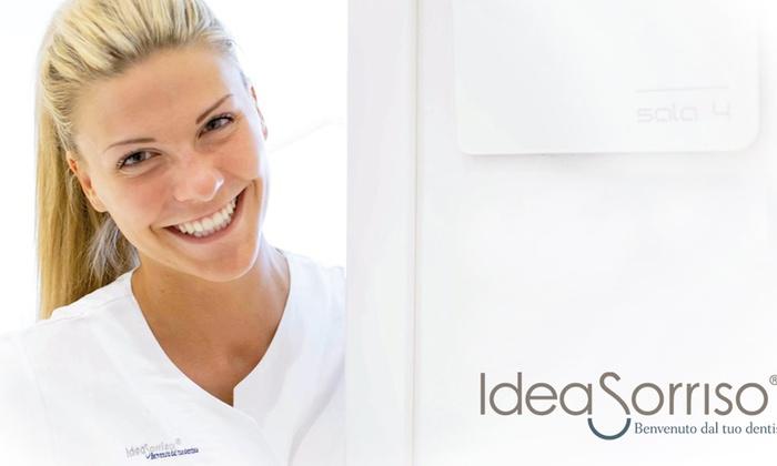 IdeaSorriso - Pulizia e sbiancamento Led - Più sedi: Visita odontoiatrica, pulizia dentale e sbiancamento led disponibile presso le cliniche Ideasorriso (sconto fino al 71%)