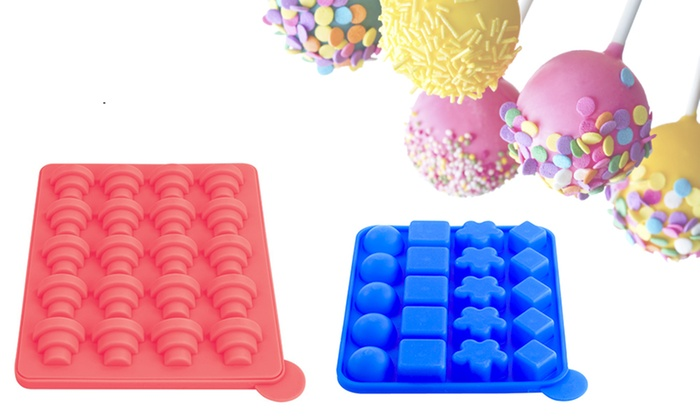 silicone cake pop molds set groupon goods. Black Bedroom Furniture Sets. Home Design Ideas