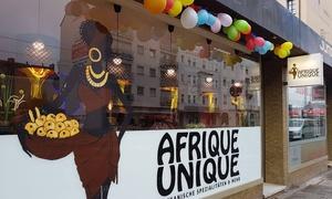 Afrique Unique: Afrikanisches Hauptgericht mit Samosas und Getränk für 2 oder 4 Personen bei Afrique Unique (bis zu 42% sparen*)
