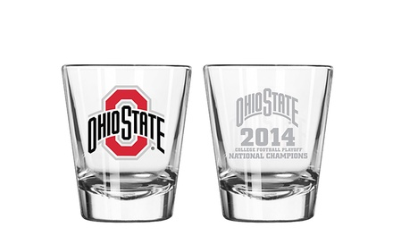 4-Pack of NCAA Ohio State Buckeyes 2014 Football National-Champions Shot Glasses