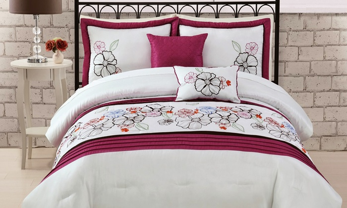 Embroidered 6-Piece Comforter Sets: Embroidered 6-Piece Comforter Sets. Multiple Styles Available. Free Shipping and Returns.