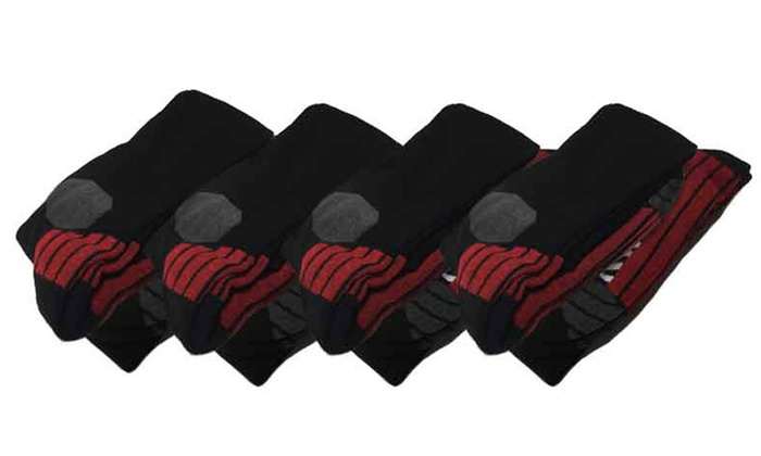 Moisture-Wicking Sport Socks with Gradual Compression (4-Pack)