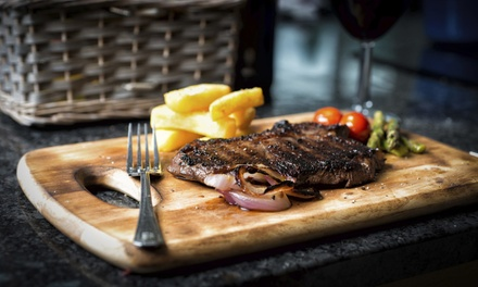 Steak and Wine Meal for Two or Four at New York By Night The Printworks