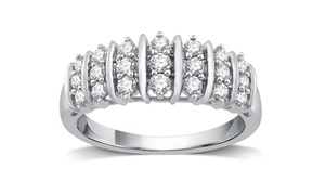 1/2 CTTW Genuine Diamond Fashion Band in Sterling Silver By DeCarat